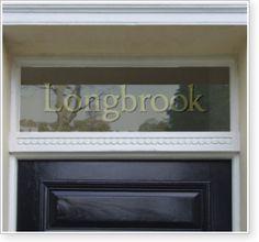 Traditional transom window / fanlight text