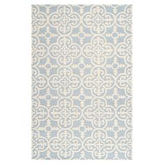 Anchor your living room seating group or define space in the den with this artfully hand-tufted wool rug, featuring a quatrefoil tile motif for eye-catching ...