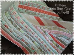 Kensington Jelly Roll Rag Quilt Pattern Tutorial with photos, Easy to Make, pdf by beffie48 on Etsy https://www.etsy.com/listing/159240794/kensington-jelly-roll-rag-quilt-pattern