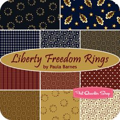 Liberty Freedom Rings Fat Quarter Bundle Paula Barnes for Marcus Brothers Fabrics