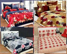Bedsheets Fashionable Polycotton Double Bedsheets Combo (Pack Of 4) Fabric: Polycotton No. Of Pillow Covers: 2 Thread Count: 160 Multipack: Pack Of 4 Sizes: Queen (Length Size: 100 in Width Size: 90 in Pillow Length Size: 27 in Pillow Width Size: 17 in) Country of Origin: India Sizes Available: Queen   Catalog Rating: ★4.1 (14665)  Catalog Name: Trendy Polycotton 90x90 Double Bedsheets Vol 13 CatalogID_583559 C53-SC1101 Code: 018-4103662-7212