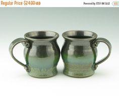 Mug SALE Pottery Coffee Mug Singles - Earthy Rainforest Green 12 oz Stoneware Tea Mug - Handmade Ceramic Soup Mug Gift for Him or Her