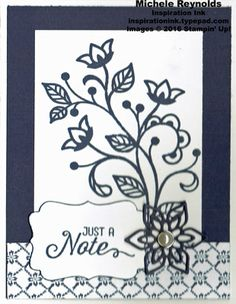 Flourishing Phrases Pearl Flower Note by Michelerey - Cards and Paper Crafts at Splitcoaststampers