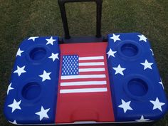 time for of July Painted Fraternity Coolers, Painted Coolers, Frat Coolers, Diy Cooler, Coolest Cooler, Yeti Cooler, Fraternity Crafts, Army Family, Cooler Designs