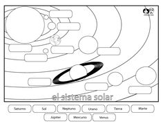 Solar system print out that students can do to reinforce the order of the planets in the solar system. KS