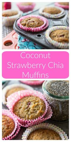 Coconut Strawberry Chia Muffins | Healthy Ideas for Kids