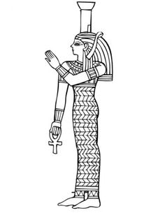 A Figure of Ancient Egypt Royal Women Coloring Page