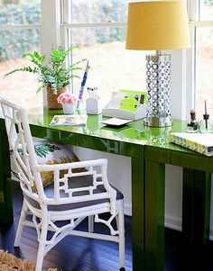 Ruth Burts Interiors: GREENS: clover + kelly + emerald !