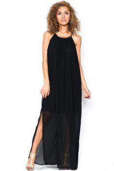 Always Summer Somewhere Maxi Dress - Black