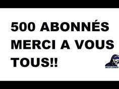 500 Abonnés MERCI!!! Grace, Youtube, Thanks, Youtube Movies