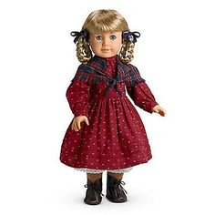 American-Girl-Kirsten-Retired-School-Outfit-Dress-Shawl-Ribbons-BNIB-No-Doll