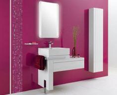 #VentaDeDepartamentos #EspacioSanIsidro Moderna Decoración de Baño en Color Morado
