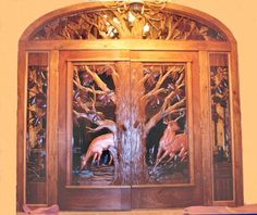 Beautiful HandCarved animal carved doors
