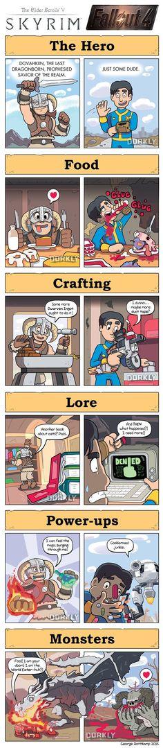 Skyrim vs Fallout - 9GAG