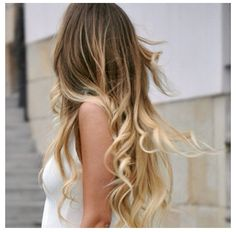 Blonde ombre  | Blonde, more subtle ombre hair coloring