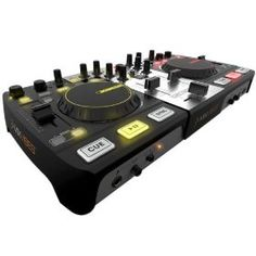 The Mixvibes U-Mix Control Pro is designed for DJs seeking a compact and professional DJ solution with no compromise in quality or feature set. The U-Mix Control Pro features an optimized layout that matches Mixvibes Cross software and houses a 4 channel audio interface. The layout is instantly familiar to anyone who has used a traditional DJ set up, with 2 jog wheels and pitch and volume faders all in the expected location.