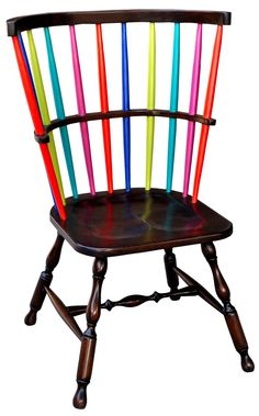 New Windsor Chair, a rainbow to recast tradition. By Steven Shell website