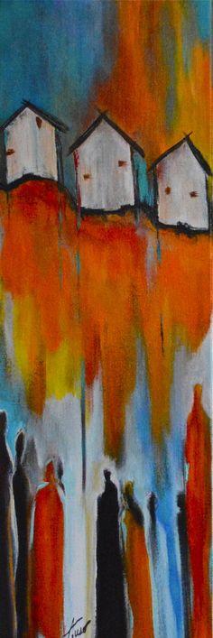 "For Sale: Homecoming by Amy Tuso   $250   8""w 24""h   Original Art   http://www.vangoart.co/buy/art/homecoming @Vango"