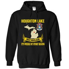 Houghton Lake It's Where My Story Begins T-Shirts, Hoodies. ADD TO CART ==► https://www.sunfrog.com/No-Category/Houghton-Lake--Its-where-my-story-begins-7507-Black-Hoodie.html?id=41382