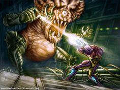 Super Metroid - Final Battle by Smexyheroes.deviantart.com on @deviantART