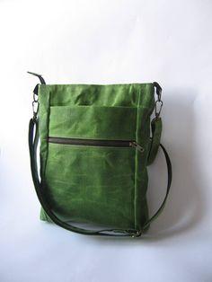 Waxed Canvas Bag Mens Crossbody Bag Shoulder Bag Waxed