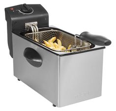 Prepare delicious chips and other delicious meals with the Tristar deep fryer! This powerful family deep fryer is a must in your kitchen! dimensions: 21 x 26 x 40 cm.Features:Capacity: 3 LAdjustable temperature (up to 190 °C)Re. Oil Free Fryer, Deep Fryer, Lidl, Toaster, Kitchen Appliances, Stainless Steel, Parfait, Amazon, Things To Sell