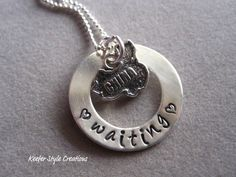 Hand Stamped Adoption waiting China Necklace on Etsy, $48.00