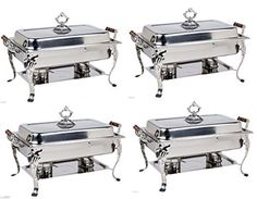 4 PACK 8QT CLASSIC Chafer Rectangular Chafing Dish Bonus 20 MFR Rebate Catering Buffet Food Tray ** Want additional info? Click on the image. We are a participant in the Amazon Services LLC Associates Program, an affiliate advertising program designed to provide a means for us to earn fees by linking to Amazon.com and affiliated sites. Specialty Cookware, Hot Pot, Catering Buffet, Chafing Dishes, Food Trays, Dish Sets, Program Design, Wooden Handles