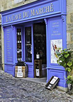 Blue Bordeaux Wine shop, St. Emilion, France by Mark And Judy Coran