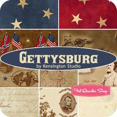 Love these fabrics, I have anpenchant for patriotic fabrics.!  Gettysburg Yardage Kensington Studio for Quilting Treasures