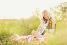 senior and her guitar, senior photography