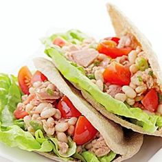 Tuscan-Style Tuna Salad - EatingWell.com leave out the tuna and you've got a vegan recipe.