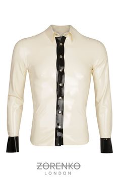 Mens Detailed Latex Shirt by ZorenkoLondon