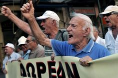 Seniors stormed the streets of Athens, Greece, and marched towards the Health Ministry on Thursday to protest the government's austerity measures and attendant pension cuts
