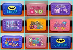 Personalized Pencil Boxes, Personalized School Supplies, Personalised Box, Kids Pencil Box, Plastic Pencil Box, Circuit Projects, Vinyl Projects, Craft Projects, Student Gifts