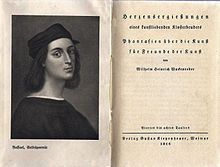 Herzensergießungen eines kunstliebenden Klosterbruders sind kunsttheoretische Aufsätze von Wilhelm Heinrich Wackenroder und Ludwig Tieck, die 1796 bei Johann Friedrich Unger in Berlin anonym erschienen. ...