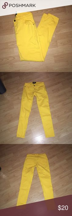 Royal bones yellow jeans Royal bones yellow pants size 5 short. Light stain towards the bottom, barely noticeable (see last pic) royal bones Pants Skinny