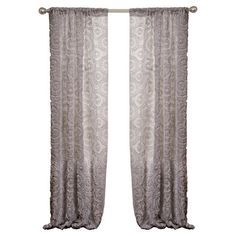 Add feminine flair to your master suite or guest bedroom with this lovely curtain, showcasing a floral motif.    Product: Curt...