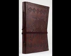 Notizhefte - Notizbuch Tagebuch Kladde Leder klein Kamel 0037 - ein Designerstück von lederbuch24 bei DaWanda