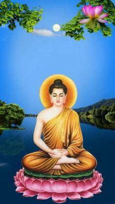 buddha on flower Buddha Peace, Buddha Life, Buddha Kunst, Buddha Art, Gautama Buddha, Zen, Gautam Buddha Image, Buddhism Wallpaper, Krishna Wallpaper