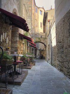 Little Restaurant in Massa Marittima, Tuscany, Italy