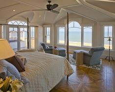 Master Bedroom with Breathtaking Ocean View. Yes Please!