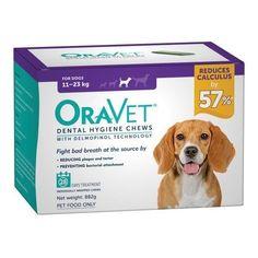 Oravet Dental Chews for Dogs 11-23kg - 28 in a Box