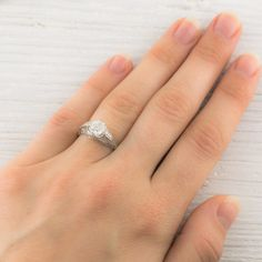 1.17 Carat Vintage Diamond Engagement Ring | Erstwhile Jewelry Co.