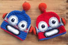 Crochet Twin Baby Hats Hats for Twins Infant by forgetmenotstudio