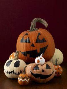 Tips and Ideas for Painting Pumpkins: Painted Pumpkins