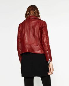 Image 2 of LEATHER JACKET from Zara