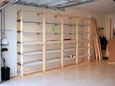DIY shelving unit for the garage...definitely with doors:)