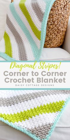 Use this corner to corner crochet blanket pattern to create a gorgeous crochet blanket. This free crochet pattern includes a video tutorial. It's a great crochet pattern for beginners! #c2cbabyblanket #crochetbabyblanket #crochetstitch #beginnercrochet Quick Crochet, C2c Crochet, Crochet Dishcloths, Crochet Afghans, Crochet Blankets, Free Crochet, Crochet Blanket Patterns, Tunisian Crochet Blanket, Crochet Baby Blanket Free Pattern