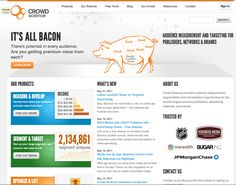 Home Page for CrowdScience.com in 2012, the company has since been acquired.